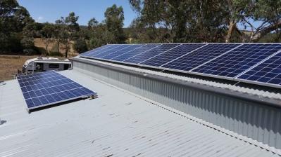 Clean gutters & solar panels